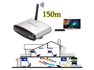 2.4GHz 150M/492ft AV Wireless Transmitter Receiver Sender Sharer Audio Video