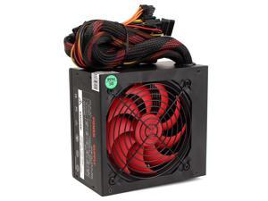 500W Computer Power Supply PC PSU Gaming SMART Silent 80mm Cooling Fan ATX 12V