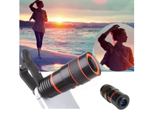 Universal 8X Optical Zoom Telescope Camera Lens For Mobile Phone Black-US Stock
