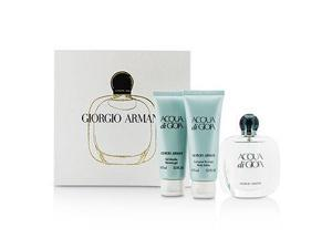 Giorgio Armani - Acqua Di Gioia Coffret: Eau De Parfum Spray 50ml/1.7oz + Body Lotion 75ml/2.5oz + Shower Gel 75ml/2.5oz 3pcs