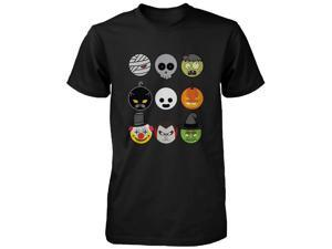 Halloween Monsters Men's Shirt Humorous Graphic Tee for Haunt Night Funny Shirt  UNISEX-SMALL