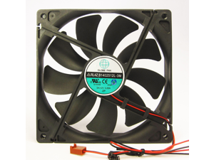 140mm 25mm New Case Fan 12V DC 74.6CFM CPU Computer Cooling 2wire Ball Bearing