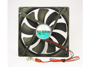 140mm 25mm Case Fan 12V DC 153CFM PC CPU Computer Cooling 2 Wire Ball Bearing 14025