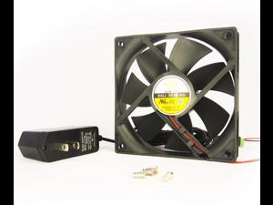 120mm 25mm New Case Fan 110V 115V 120V AC 124CFM 2 Pin Ball Bearing 12025