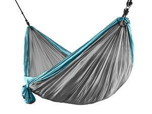 ErgaLogik Camping Hammock (Blue/Grey)