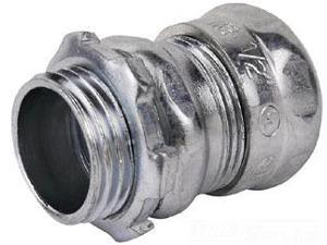 """Thomas & Betts SG TC115A 1 1/2"""" Connector,Compression,EMT,Steel (Pack of 25)"""