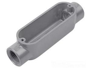 """Red Dot AC-1-RD 1/2"""" Threaded Die Cast Aluminum Thru-Feed Conduit Body (Pack of 10)"""