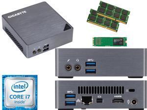 Gigabyte BRIX Ultra Compact Mini PC (Skylake) BSi7-6500 i7 250GB SSD, 4GB RAM, Assembled and Tested