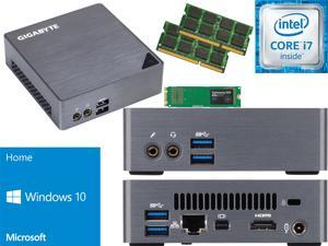 Gigabyte BRIX Ultra Compact Mini PC (Skylake) BSi7-6500 i7 120GB SSD, 4GB RAM, Windows 10 Home Installed & Configured - Windows USB Flash Media Included