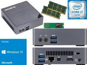 Gigabyte BRIX Ultra Compact Mini PC (Skylake) BSi7-6500 i7 250GB SSD, 16GB RAM, Windows 10 Home Installed & Configured - Windows USB Flash Media Included