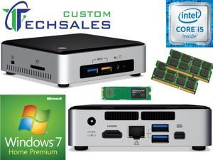 Intel NUC NUC6i5SYK Mini PC (Skylake) i5-6260U,500GB Samsung SSD, 8GB RAM Windows 7 Home Installed & Configured