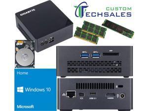 Gigabyte BRIX s Ultra Compact Mini PC (Skylake) BSi7HT-6500 i7 1TB M.2 SSD, 2TB HDD, 32GB RAM, Windows 10 Home Installed