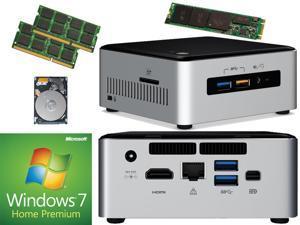 Intel NUC NUC6i3SYH Mini PC (Skylake) i3-6100U, 120GB Samsung SSD, 1TB 7200RPM Drive,  16GB RAM Windows 7 Home Installed & Configured