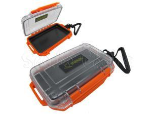 Scuba Diving Dive Waterproof Orange Dry Box Case Container w/ Lanyard