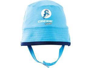 Cressi Blue Babaloo Beach Infant UV Protected Baby Hat, Size S/M (6-15MO)