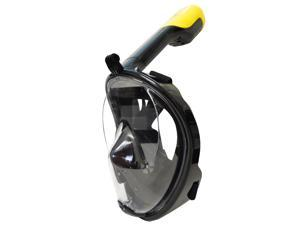 Snorkel Master Black Full Face Snorkel Mask with GoPro Attachment, L/XL
