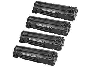 4 Pack Alternative Replacement Laser Toner Cartridge for Hewlett Packard CE285A HP 85A Black for use in LaserJet Pro M1132 LaserJet Pro M1212nf LaserJet Pro M1217nfw MFP LaserJet Pro P1102 & P1102W