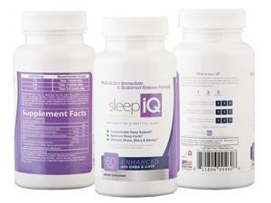Sleep iQ: All-Natural Immediate & Sustained Release Sleep Aid for Restorative & Restful Sleep – 60 tablets