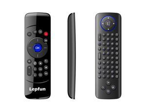 Lepfun C2 mini Rechargeable Wireless Mouse Keyboard Air Remote Controller with Infrared Remote Learning Qwerty for Android Box ,Media Player,Smart Tv ,Fire TV and Mac