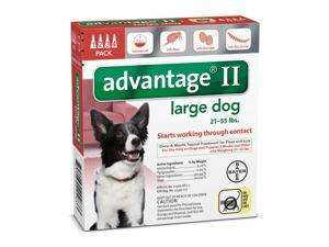 Advantage II for Dogs Large Red 4 Months