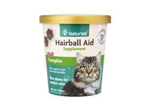 NaturVet Hairball Aid Plus Pumpkin Cat Soft Chew Cup
