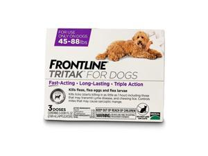 Frontline Tritak for Dogs  45-88 Pounds Purple  3 Months