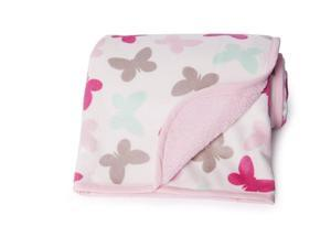 Carter's Velour Sherpa Blanket, Pink Butterfly