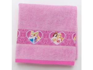 Disney Princess Bath Towel - Cinderella, Rapunzel, Belle, and Aurora