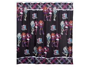 "Monster High Fabric Shower Curtain 70"" x 72 """