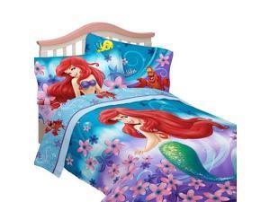 """Disney's Little Mermaid """"Cascading Flowers"""" Full Comforter Set"""