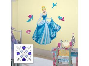 Cinderella Peel & Stick Giant Wall Decal With Decrorating Accents and Gems