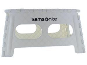 Samsonite Wide Folding Step Stool, White/Black