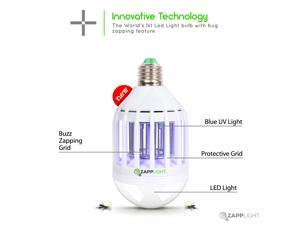 Zapplight- 110 Volts, Dual Lightbulb and Bug Light Zapper