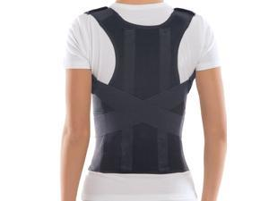 "Comfort Posture Corrector Brace / 100% - Cotton Inner Layer - Black, Large, Waist 36"" - 39.5"""