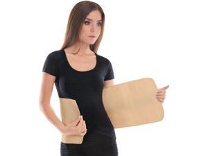 "Elastic Abdominal Binder / Postpartum & Post Operative Belly Wrap - Beige, Large, Waist 36"" - 39.5"""