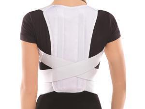 "Posture Corrector Brace - White, Medium, Waist 31?"" - 35?"""