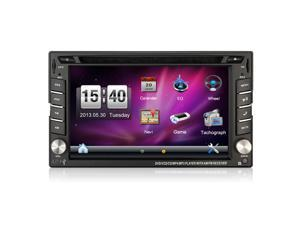 "6.2"" Touch Screen Car DVD Player GPS Navigation USB SD Bluetooth FM 2Din in Dash TFT Support Rear View Camera Input"
