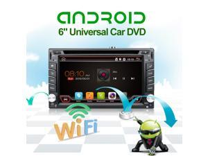 Universal 2 Din Android 4.4 Car DVD Player - Wifi, Bluetooth, Radio, 1GB CPU, DDR3, Capacitive Touch Screen