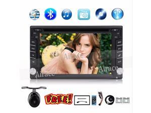 "GPS Navigation 2 Din Car DVD Player 6.2"" Car GPS Radio DVD Player Double DIN Stereo Bluetooth TV Digital Touch Screem"