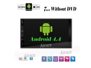 2 Din Universal 7 inch Android 4.4.2 AUTORADIO GPS Stereo Car Audio Dual Core 1Ghz Wifi 3G SWC mirror link without CAR DVD Player