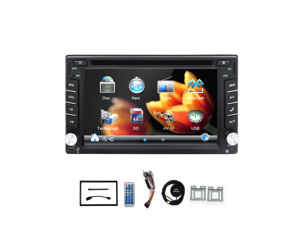 100% New universal Car Radio Double 2 din Car DVD Player GPS Navigation In dash Car PC Stereo Head Unit video+Free Map+Free Card