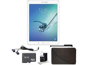 Samsung Galaxy Tab S2 9.7  Tablet (32GB, WiFi, White) 32GB Accessory Bundle (SM-T810NZWEXAR) - 32GB Bundle Includes 32GB