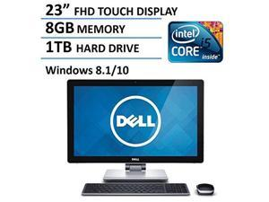 "2016 New Edition Dell 23"" Touchscreen All-in-One Desktop Computer (Intel i5-4210M up to 3.2GHz, 8GB RAM, 1TB HDD, 23"" FHD 1080P Touch Display, HDMI, WiFi, Webcam, Windows 8.1 / Windows 10)"