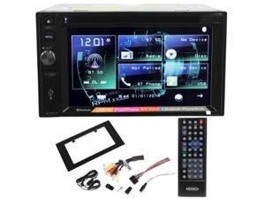 Jensen VX3020 Double Din 6.2  In-Dash Car DVD Receiver With Bluetooth Music Streaming, AUX/USB Inputs, and iPod/iPhone/A