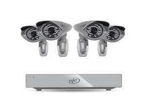SVAT PRO 4CH H.264 1 TB Smart Security DVR with 4 Ultra Hi-res Outdoor Surveillance Cameras and Smart Phone Compatibilit