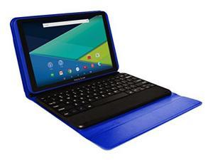 Visual Land Prestige ELITE A10QI - 10  IPS INTEL Atom X3 QuadCore 16GB Android 5.1 Lollipop Tablet w/Keyboard (Blue)