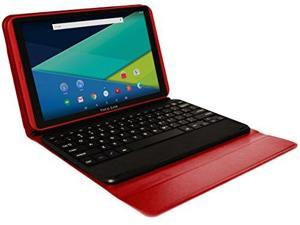 Visual Land Prestige ELITE A10QI - 10  IPS INTEL Atom X3 QuadCore 16GB Android 5.1 Lollipop Tablet w/Keyboard (Red)