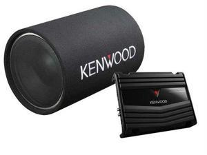 Kenwood P-W130TB 12  1200 Watt Peak/200 Watt RMS Car Subwoofer Bass Tube and Amplifier Package System