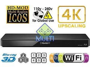PANASONIC 360 2K/4K Smart Network Multi System Blu Ray Disc DVD Player 100~240V 50/60Hz for World-Wide Use - 6 Feet HDMI