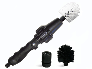 Brush Hero BH1001b Wheel Brush - Premium Water-Powered Turbine for Rims, Engines, Bikes, Equipment, Furniture (Starter Set)